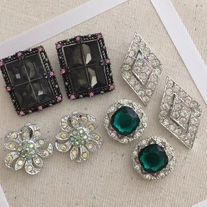 Vintage Lot Sarah Coventry Clip Earrings